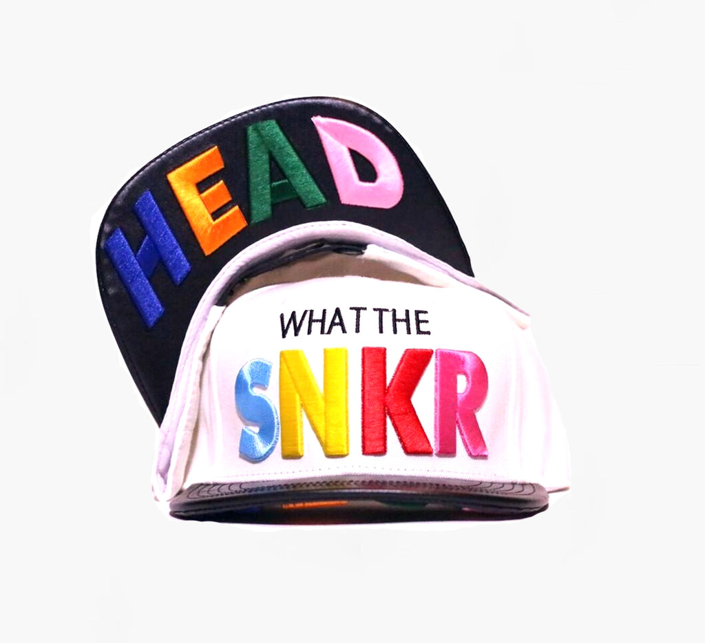 What The SNKR HEAD Snapback Hat