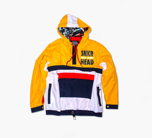 SNKR HEAD Tech-Sport International Windbreaker Jacket (yellow, white, red)