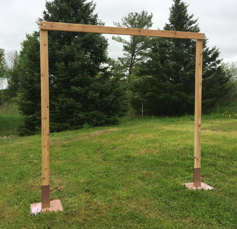 3 Piece White Cedar Wedding Arch - Northern Boughs
