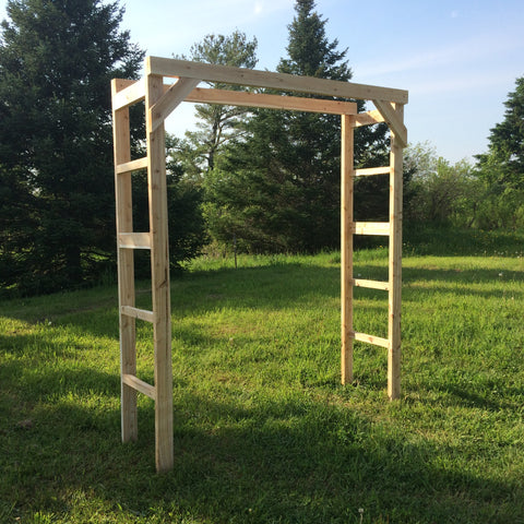 19 Piece White Cedar Wedding Arch - Northern Boughs