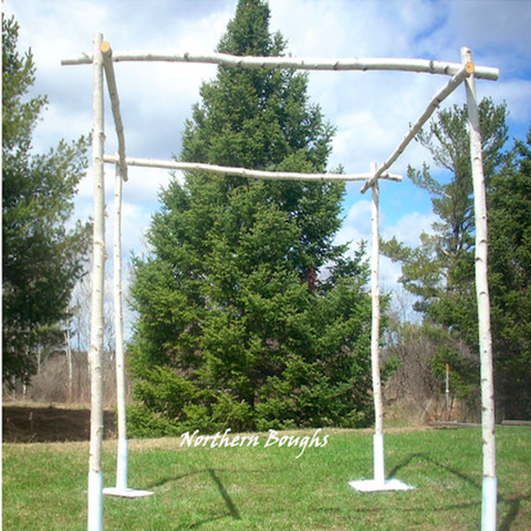 White Birch Chuppah Set with Stands - Northern Boughs