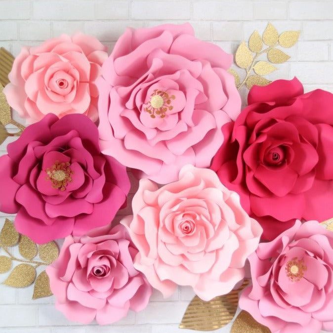 Giant Paper Flower Templates