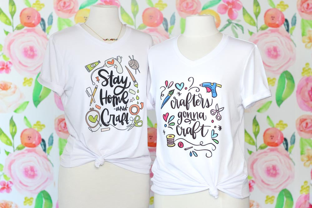 Stay Home & Craft Women's V-Neck T-Shirt (PRE-ORDER)