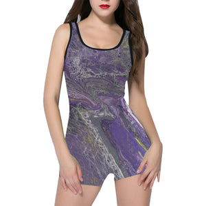 The Violet Storm Classic One Piece Swimwear (Model S03)
