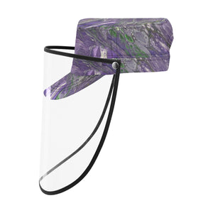 The Violet Storm Military Style Cap (Detachable Face Shield)