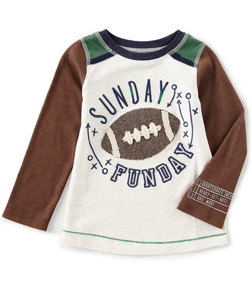 Mud Pie Sunday Funday Long Sleeve Raglan T-Shirt