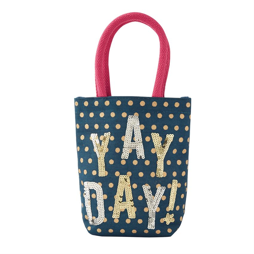 Children Dazzle Mini Tote Bag 'Yay Day!'
