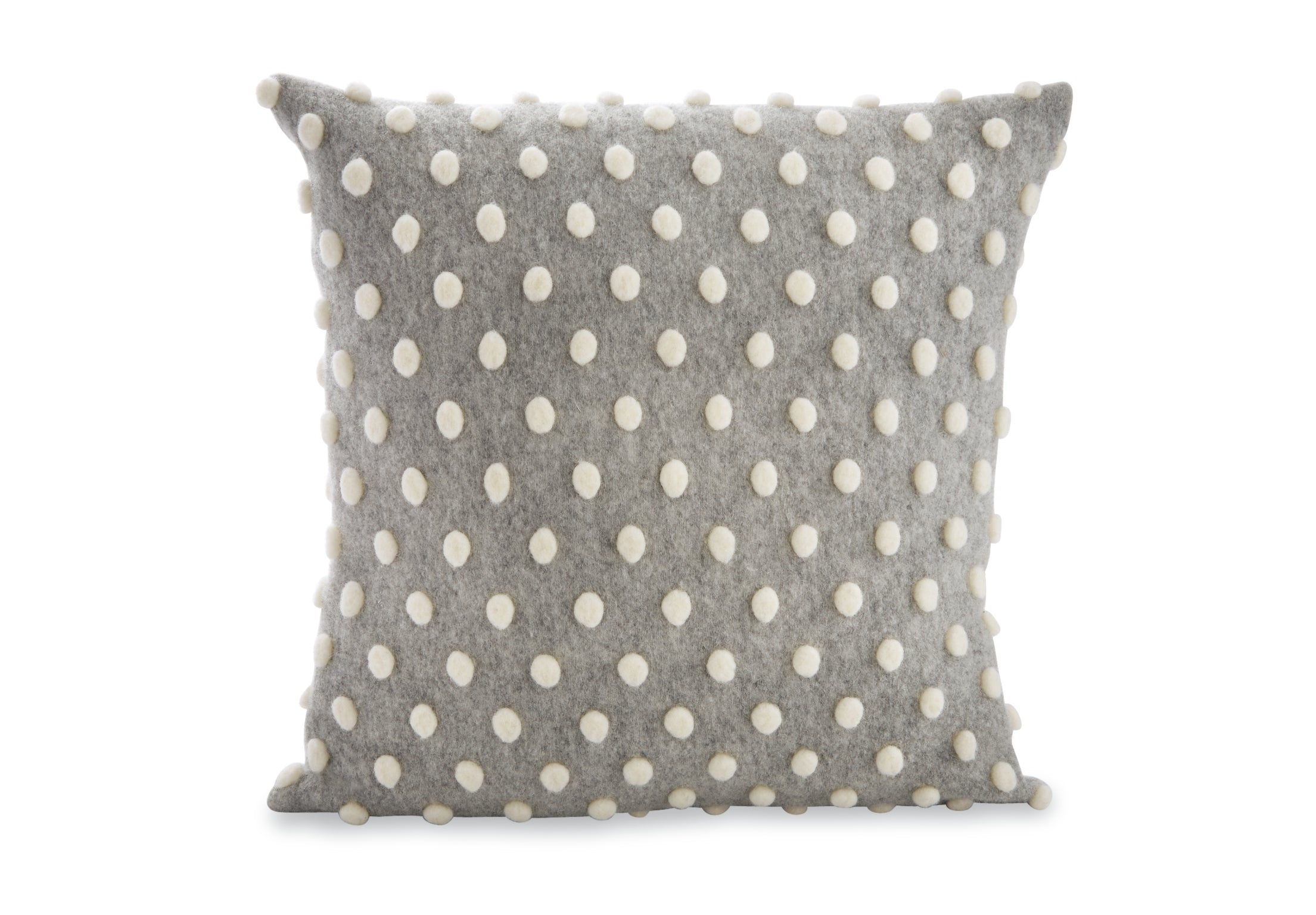 Mud Pie Square Heathered Pom-Pom Pillow