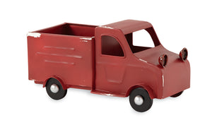 Mud Pie Small Decorative Red Vintage Tin Truck