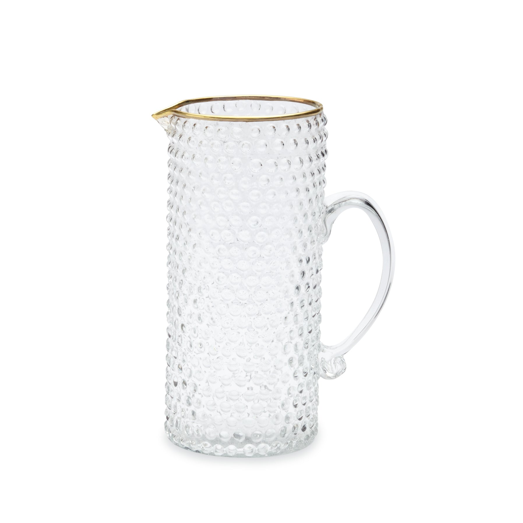 Mud Pie Gold Bubble Double Pitcher