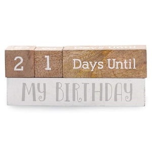 Multi Holiday Wooden Countdown Blocks