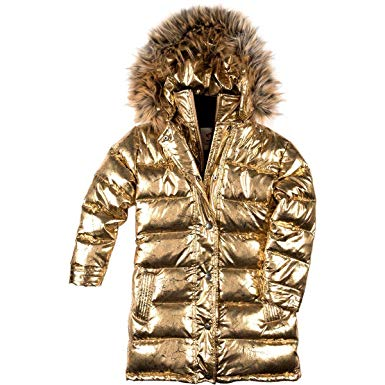 Appaman Girls' Down Coat - Antique Gold