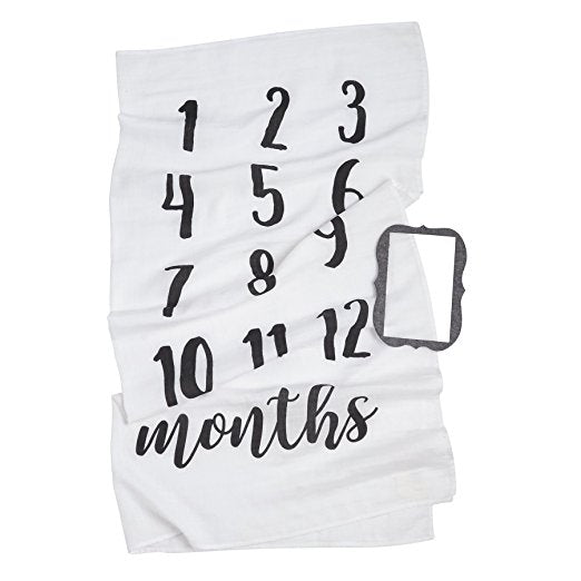 Mud Pie Monthly Milestone Blanket Photo Prop Set