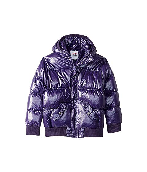 Appaman Girls' Puffy Coat - Sparkle Purple