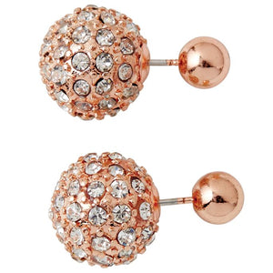 Mud Pie Pave Reversible Pierced Earrings