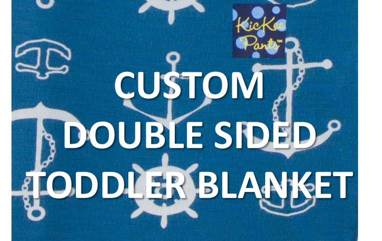 Kickee Pants - Fall 3 2017 - Toddler Blanket - Double sided Twilight Anchor