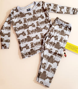 Kickee Pants - Fall 2 2018 - Pajama Set - London Dogs