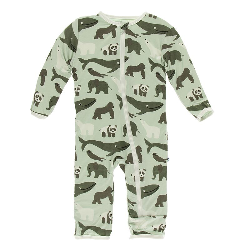 Kickee Pants - Zoology - Coverall with Zipper – Aloe Endangered Animals