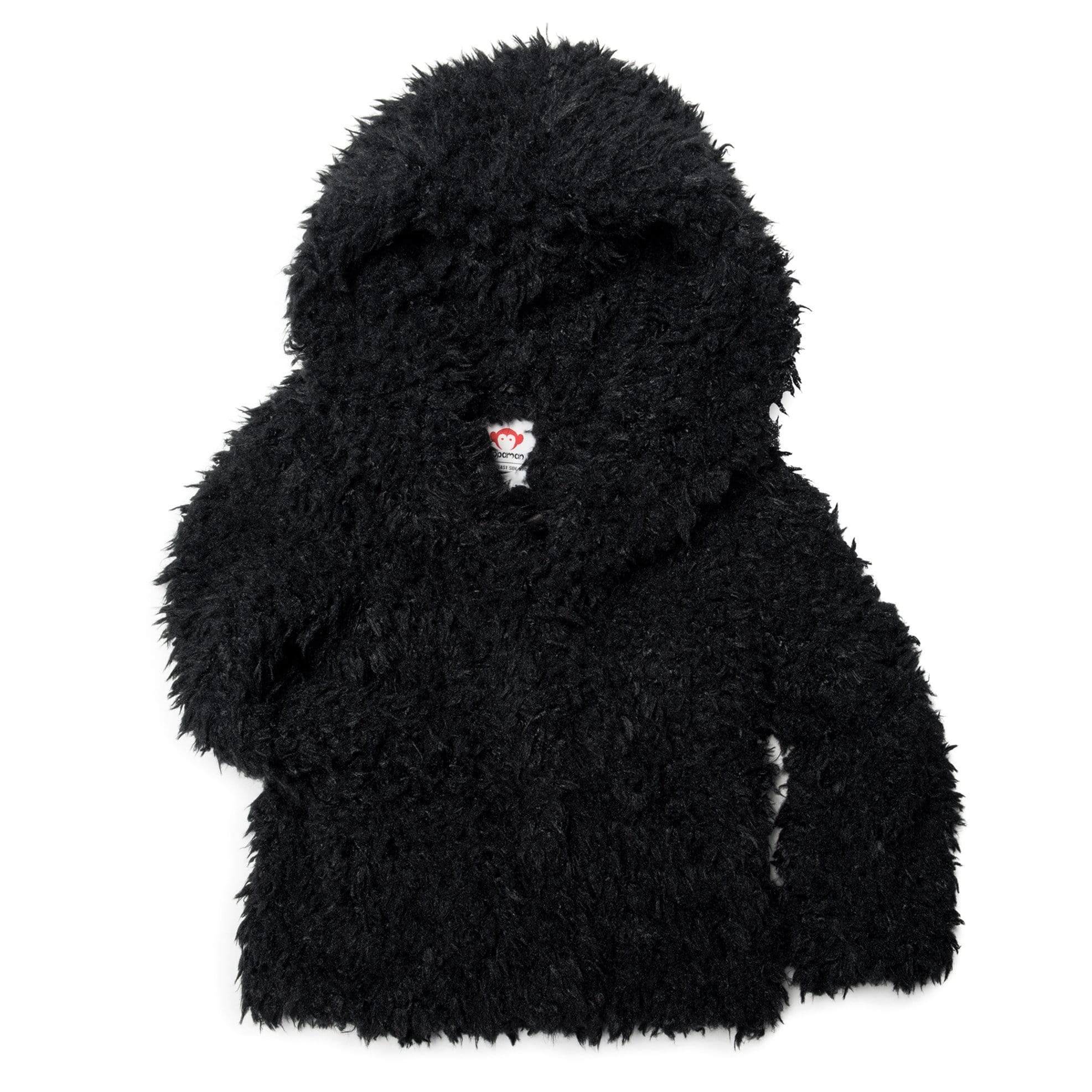 Appaman Girls' Cleo Faux Fur Coat - Black