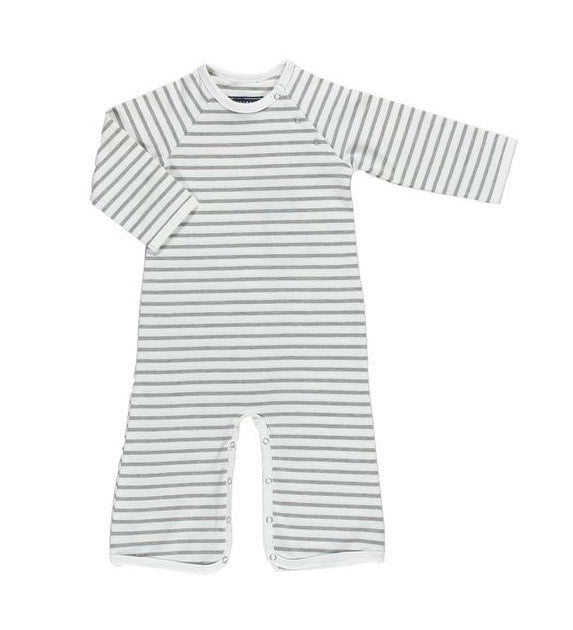 Toobydoo Chelsea Bootcut Jumpsuit - Gray Stripe