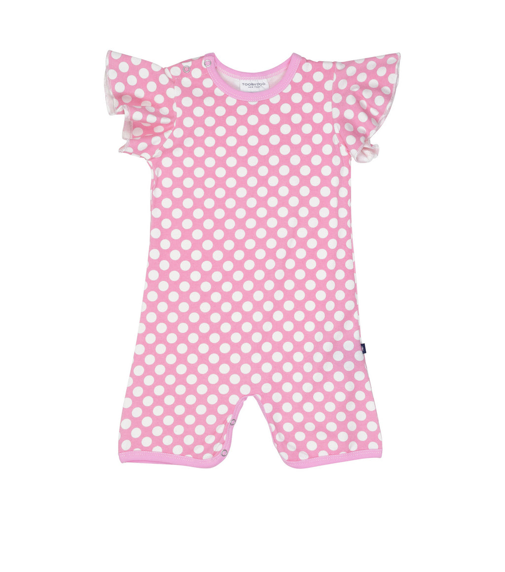 Toobydoo Shortie Angel - Pink Polka Dots