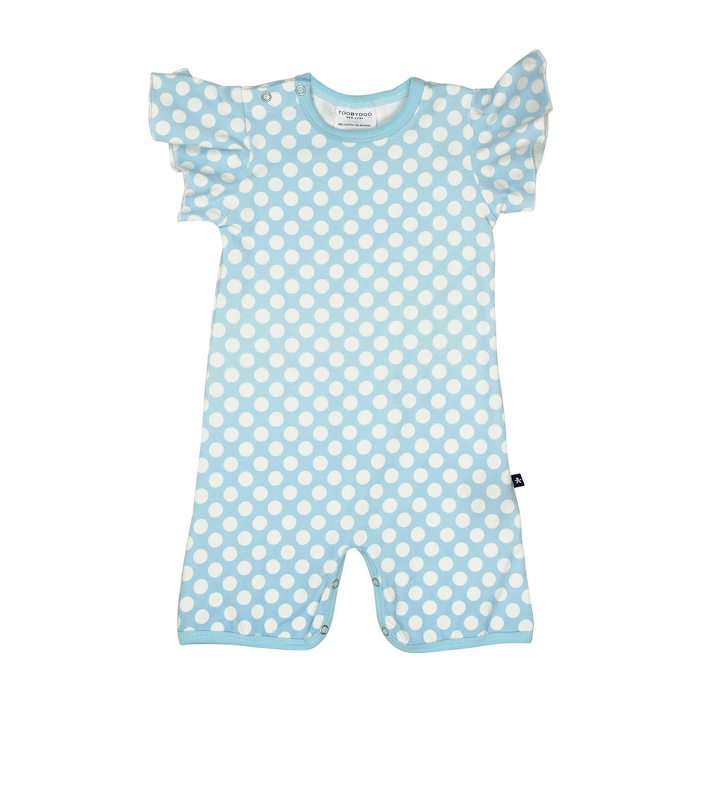 Toobydoo Shortie Angel - Blue Polka Dots
