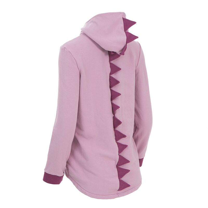Kickee Pants - Paleontology Collection - Zip Front Dino Hoodie – Sweet Pea with Amethyst