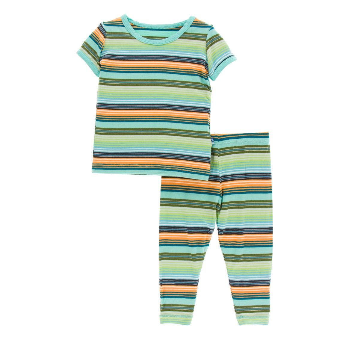 Kickee Pants - Cancun Collection - Pajama Set - Cancun Glass Stripe