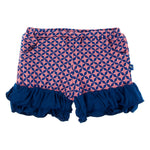 Kickee Pants - India Collection - Double Ruffle Performance Jersey Shorts – Desert Rose Taj Mahal