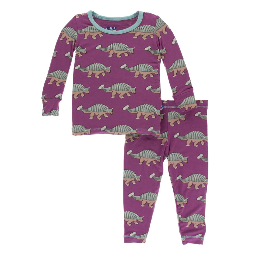 Kickee Pants - Paleontology Collection - Pajama Set - Euoplocephalus