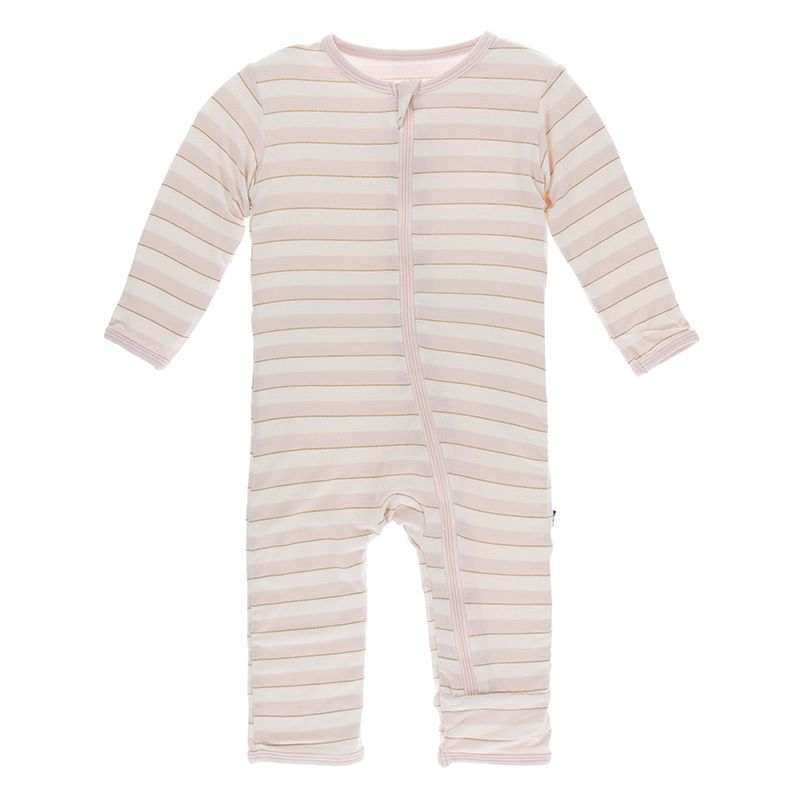 Kickee Pants - Everyday Heroes Collection - Coverall with Zipper– Everyday Heroes Sweet Stripe