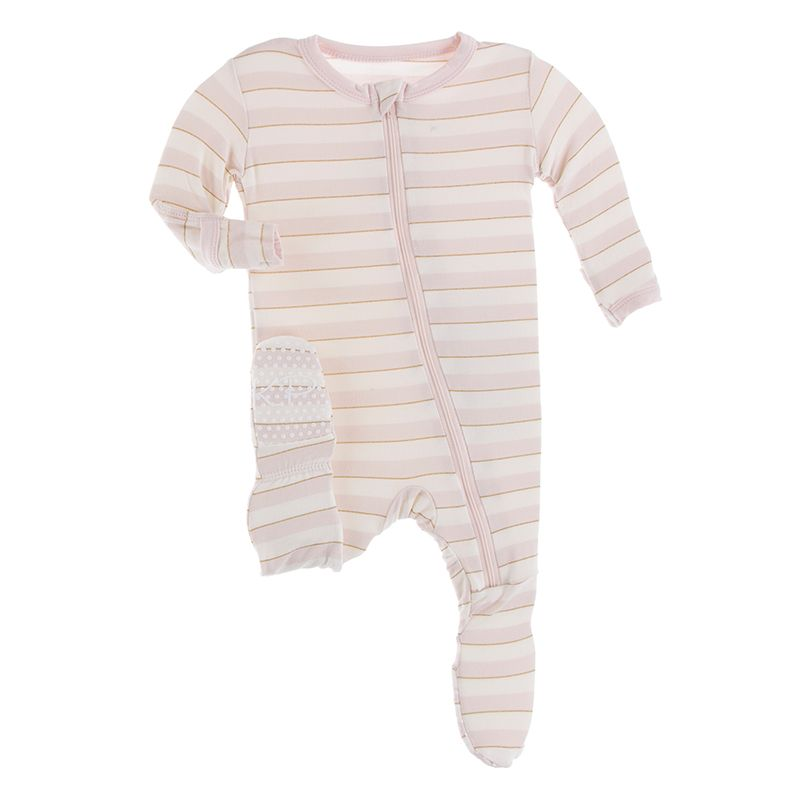 Kickee Pants - Everyday Heroes Collection - Footie with Zipper–  Everyday Heroes Sweet Stripe