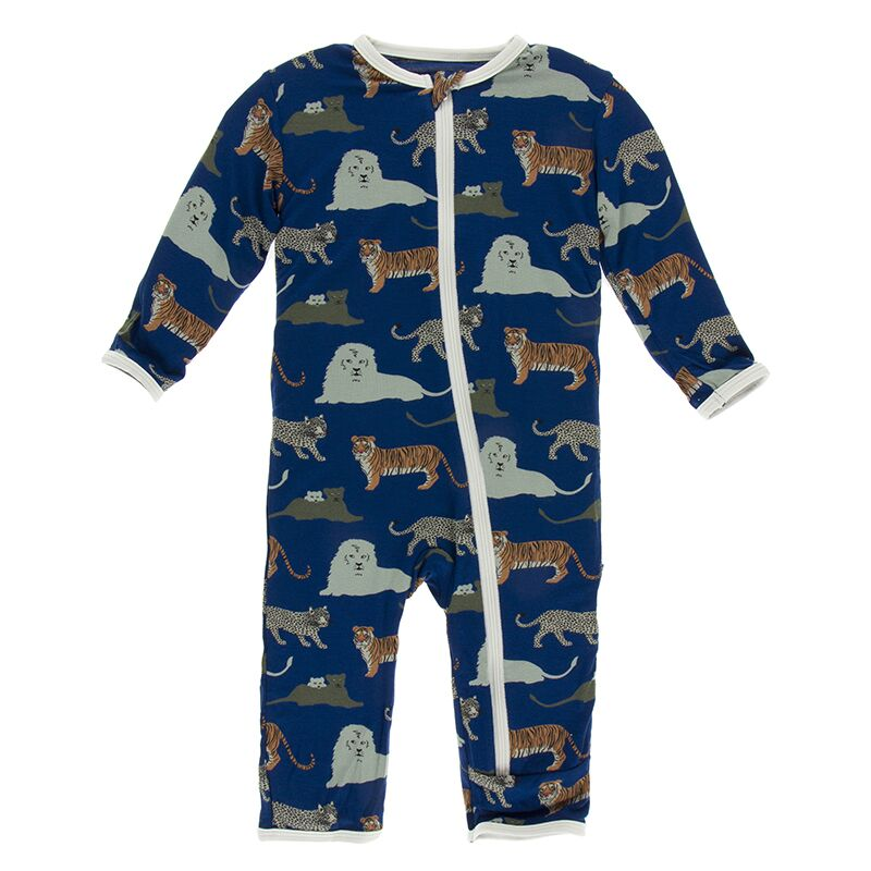 Kickee Pants - Zoology - Coverall with Zipper – Flag Blue Cats