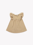 Quincy Mae - Flutter Dress - Honey