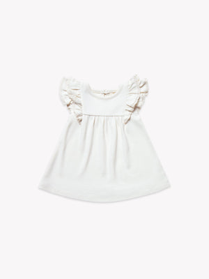 Quincy Mae - Flutter Dress - Ivory