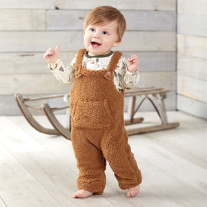 Mud Pie Forest Friends Overalls Set