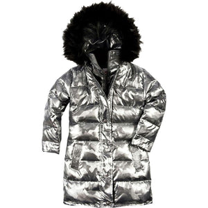 ed5a11772 Appaman Girls  Down Coat - Gunmetal Camo