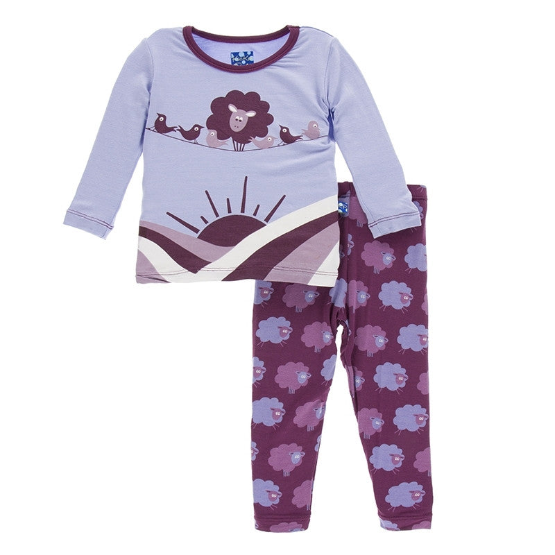 Kickee Pants - Fall 1 2017 - Grapevine Sheep Pajama Set