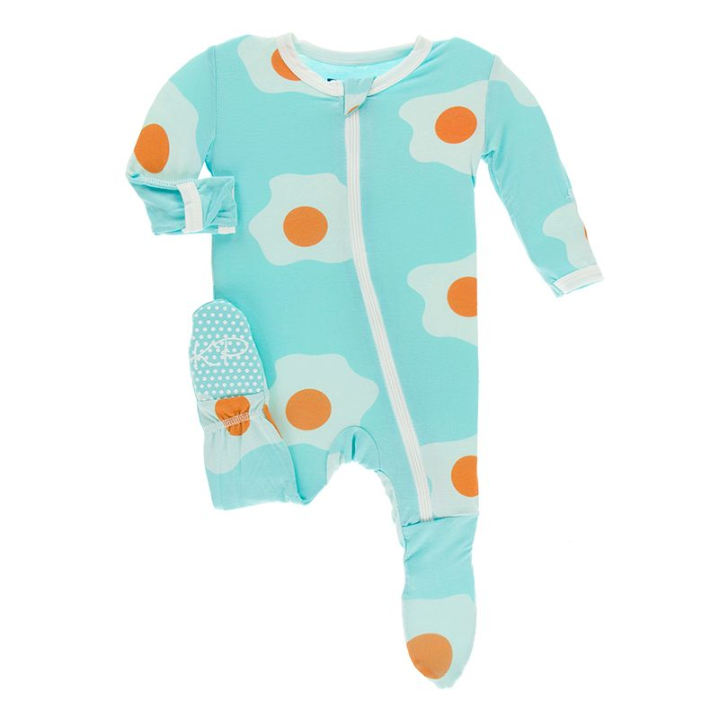 Kickee Pants - Agriculture Collection - Footie with Zipper– Iceberg Eggs