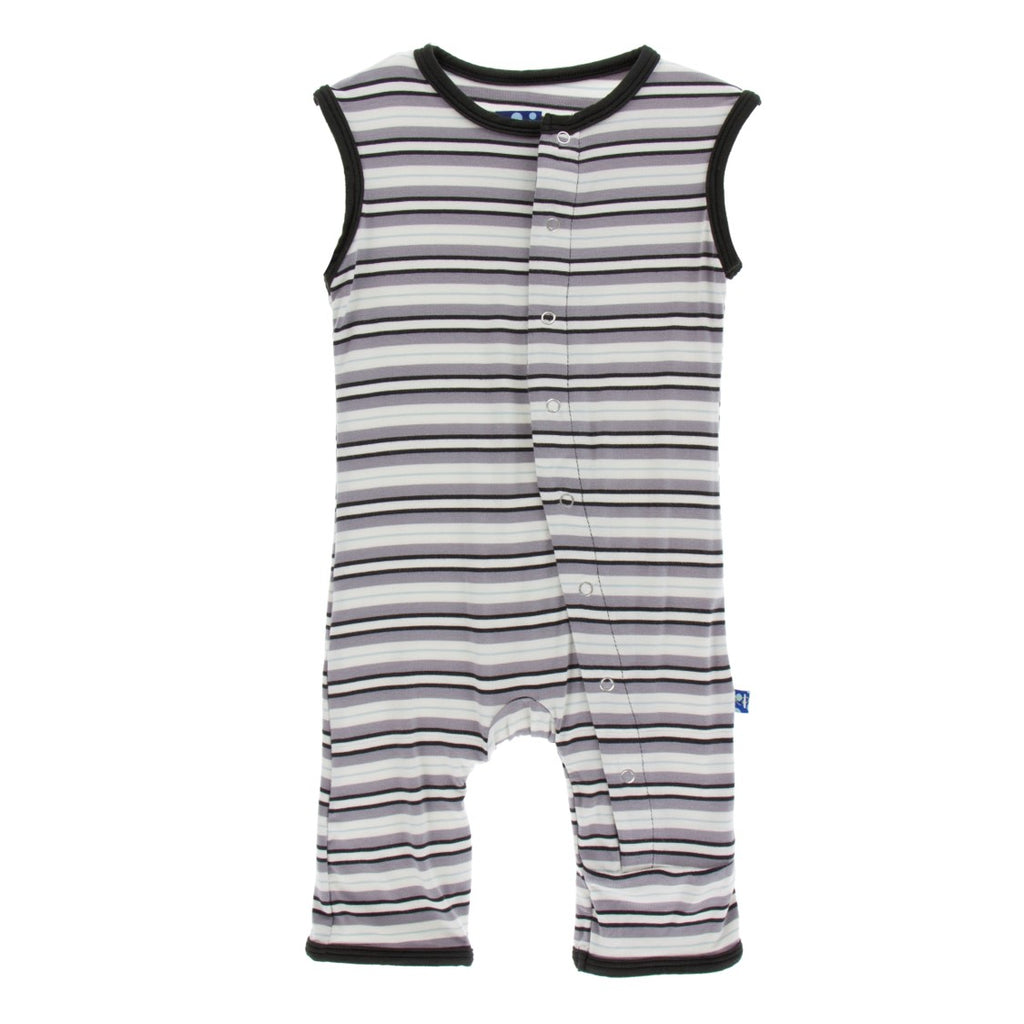Kickee Pants - India Collection - Tank Romper – India Pure Stripe