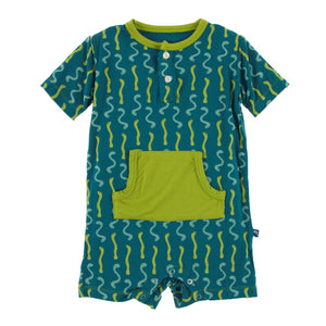 Kickee Pants - Cancun Collection - Kangaroo Romper – Oasis Worms