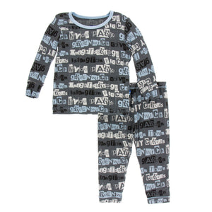 Kickee Pants - Fall 2 2018 - Pajama Set - Life About Town