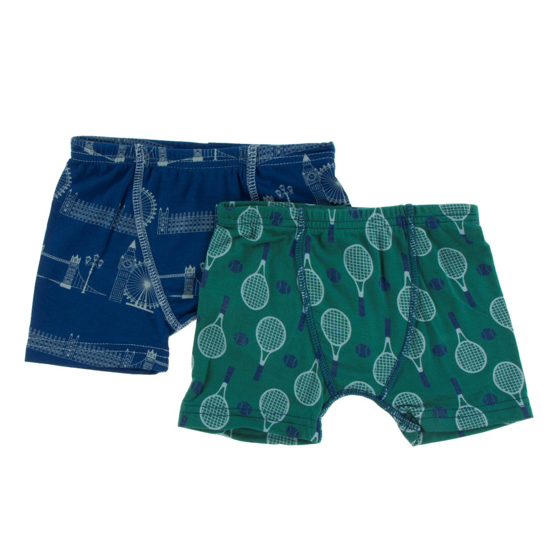 Kickee Pants - Fall 2 2018  - Boxer Brief Set - London Cityscape & Ivy Tennis