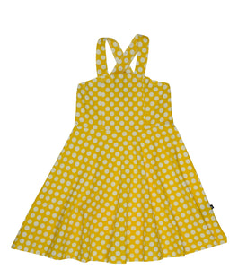 Toobydoo - Skater Dress - Yellow Polka Dots