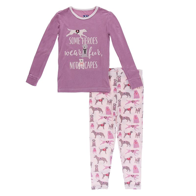 Kickee Pants - Everyday Heroes Collection - Pajama Set - Macaroon Canine First Responders