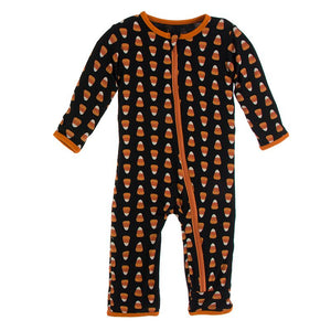Kickee Pants - Agriculture Collection - Coverall with Zipper– Midnight Candy Corn