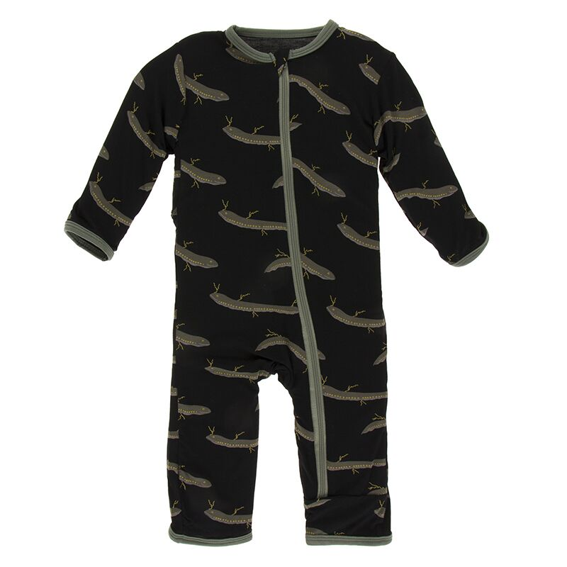 Kickee Pants - Zoology - Coverall with Zipper – Midnight Electric Eels