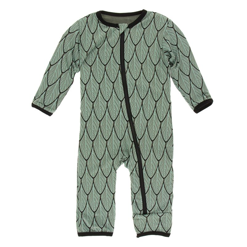 Kickee Pants - Zoology - Coverall with Zipper – Midnight Feathers