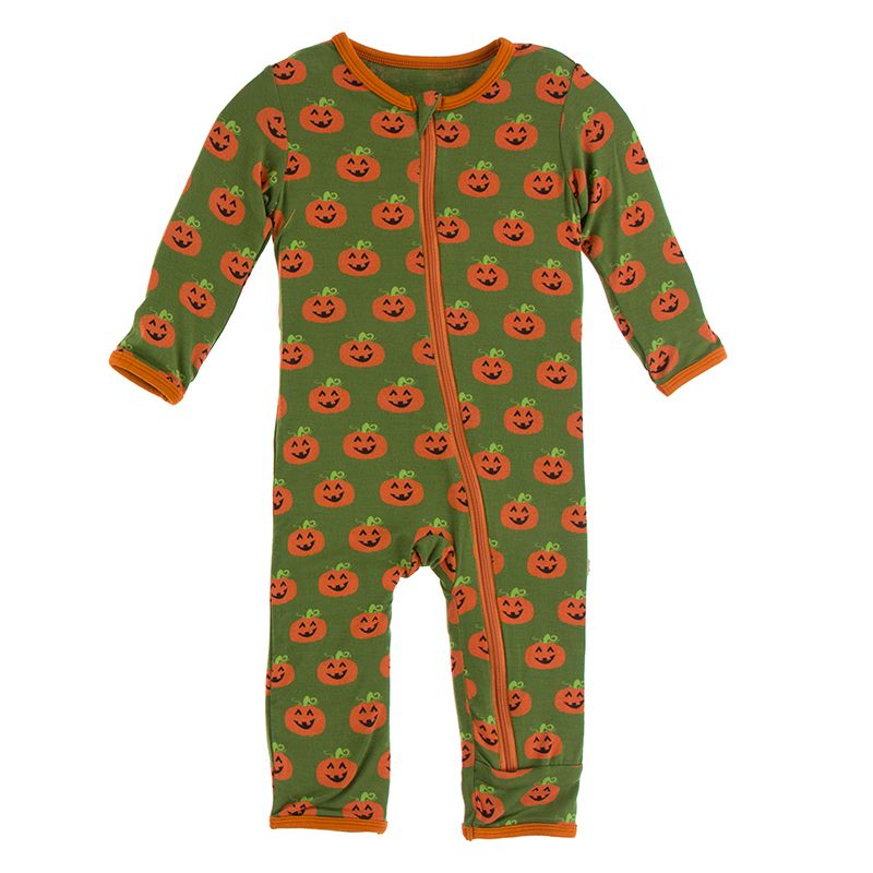 Kickee Pants - Agriculture Collection - Coverall with Zipper– Moss Jack o'Lantern