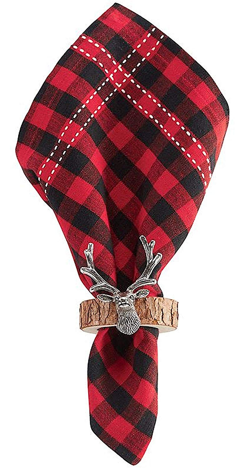 Mud Pie Fall Deer Napkin Ring